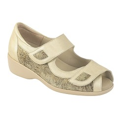 Zapato Sandalia Velcros Color Beig