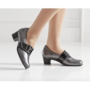 Zapato Señora Tacon Combinado Velcro