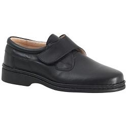 Blucher Velcro Caballero Negro Plasto
