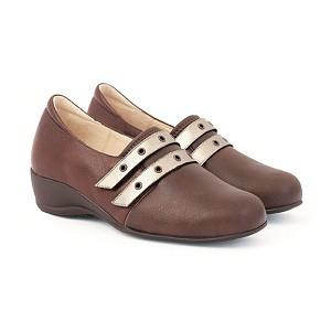 Zapato Señora Combinado Pala Lycra Velcros