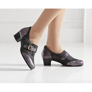 Zapato Tacón Señora Combinado Velcro