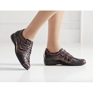 Zapato Deportivo Velcros Combinacion Negro