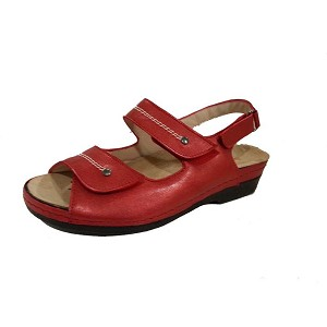 Sandalia Bio Señora Velcros Guadalest Bermellon