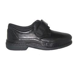 Zapato Caballero Velcro Negro