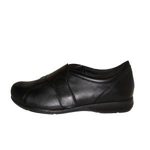 Zapato Diabetico Velcro Color Negro