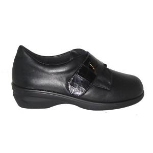 Zapato Señora Diabetico Negro Velcro