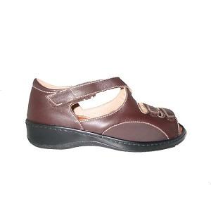 Zapato Doble Velcro Lycra Marron