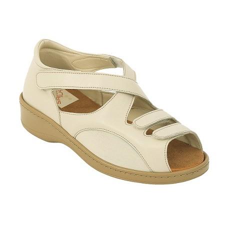 Zapato Doble Velcro Lycra Color Beig
